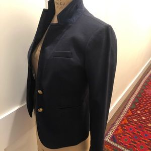 NWOT jcrew school boy blazer navy size 00